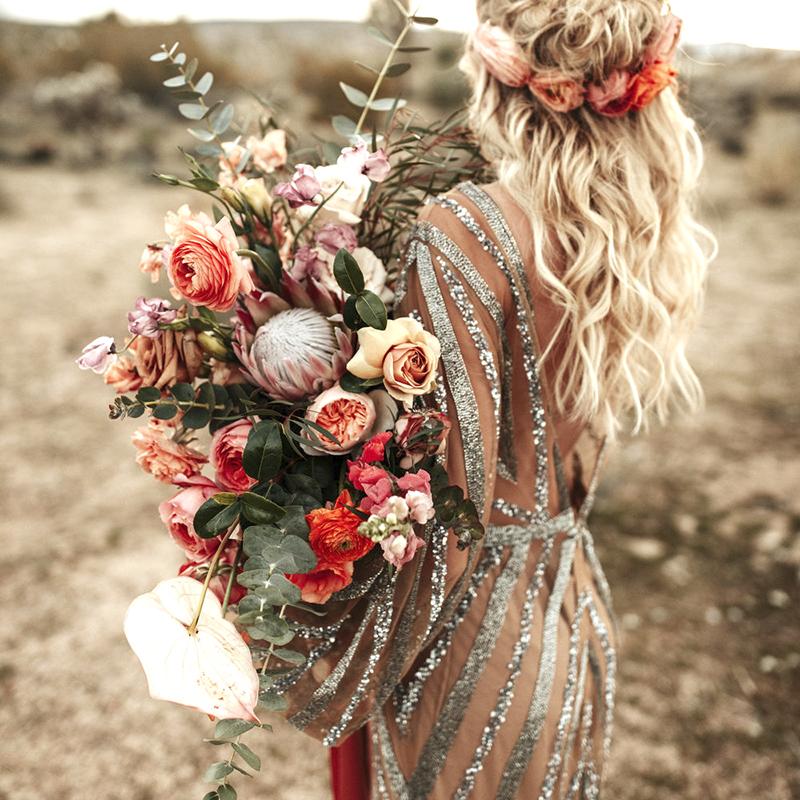 santorini boho flowers 2