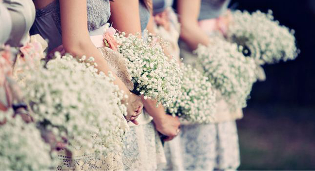 baby breath santorini wedding bouquet