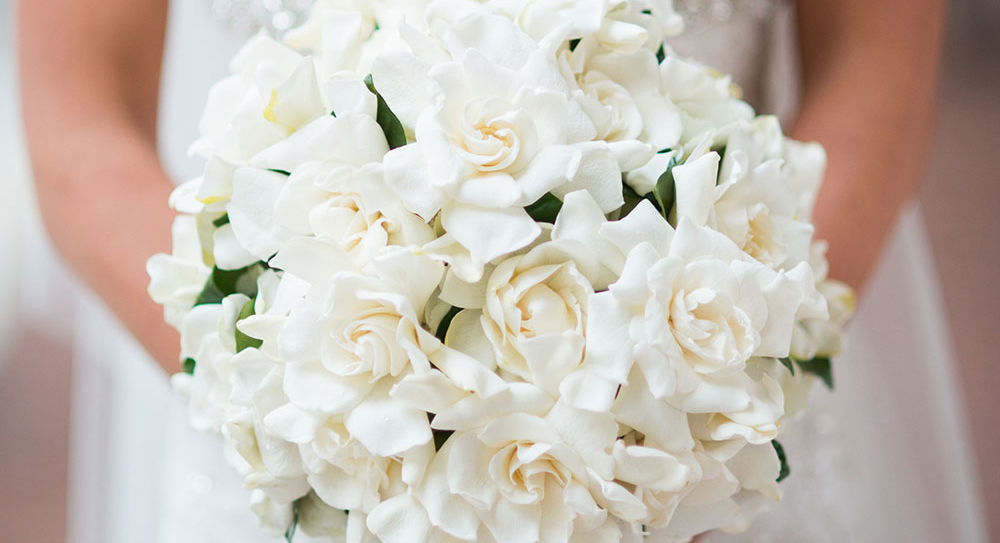 gardenia wedding bouquet
