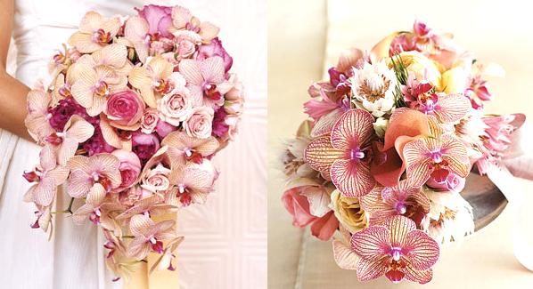orchid santorini wedding bouquet