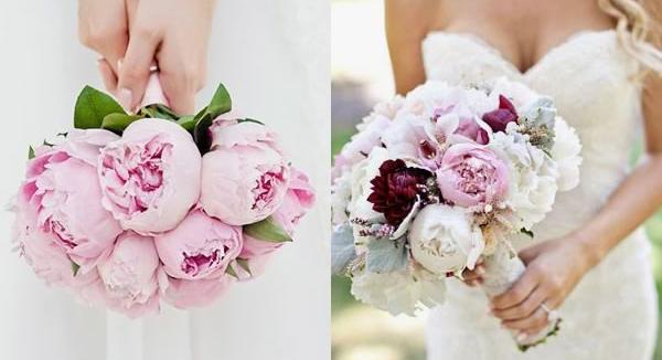 peony santorini wedding bouquet