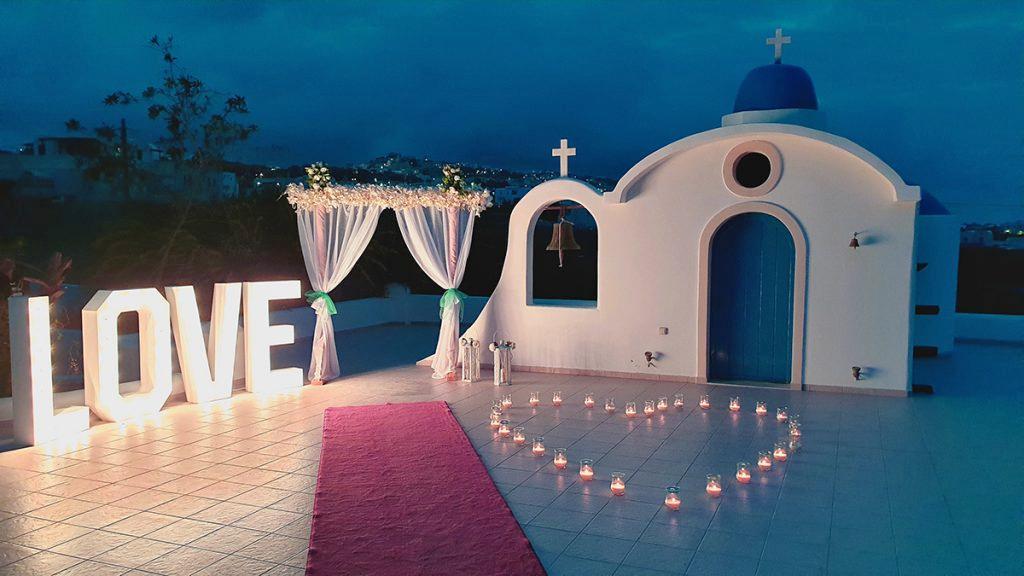 wedding flower decorations santorini