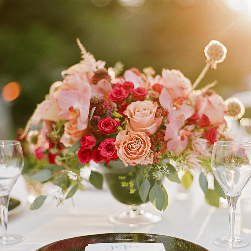 joyful santorini flowers