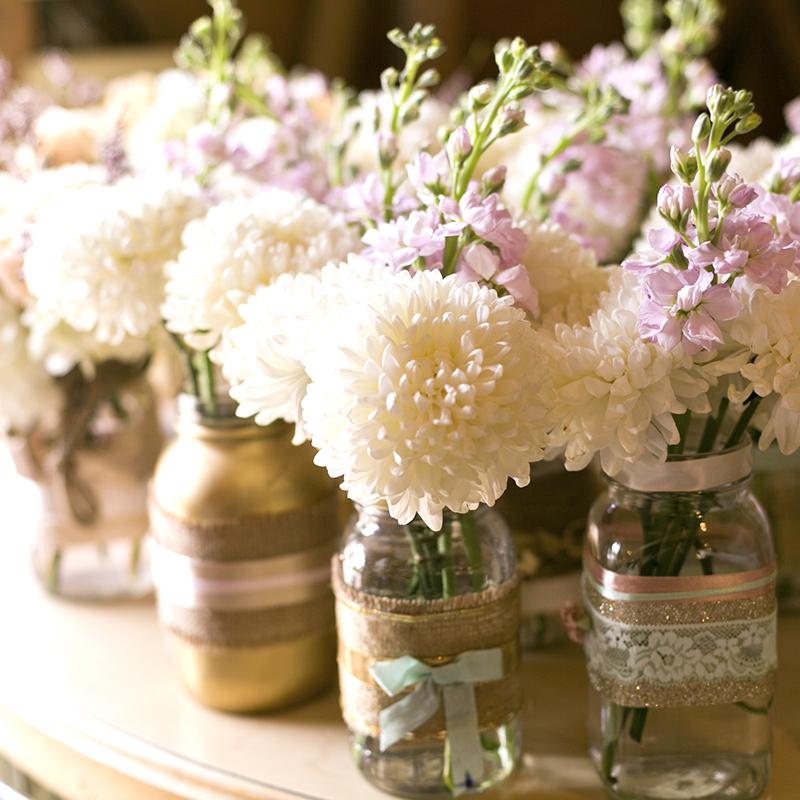 small center piece wedding flowers santorini